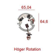 Startmotor Kolbrygga Mitsuba Right Hand Plate / Medsols Rotation