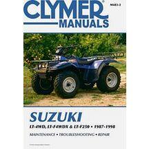 Clymer Verkstadsbok Suzuki LT-4WD, LT-F4WDX & LT-F250 1987-1998